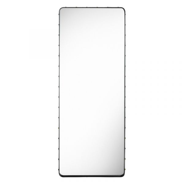 Gubi Adnet Rectangular Wall Mirror 70x180cm Black Leather