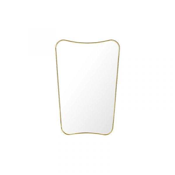 Gubi F.A.33 Rectangular Wall Mirror 80x54cm Polished Brass