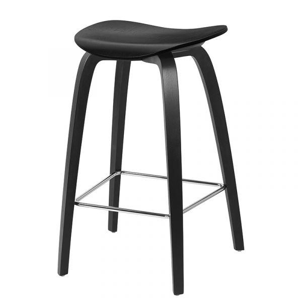 Gubi 2D Counter Stool Unupholstered H65cm Wood Base