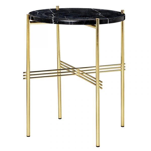 Gubi TS Side Table D40cm x H 51cm Brass Frame