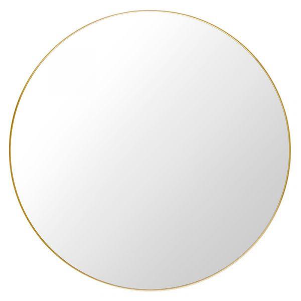 Gubi Round Wall Mirror 110cm Polished Brass