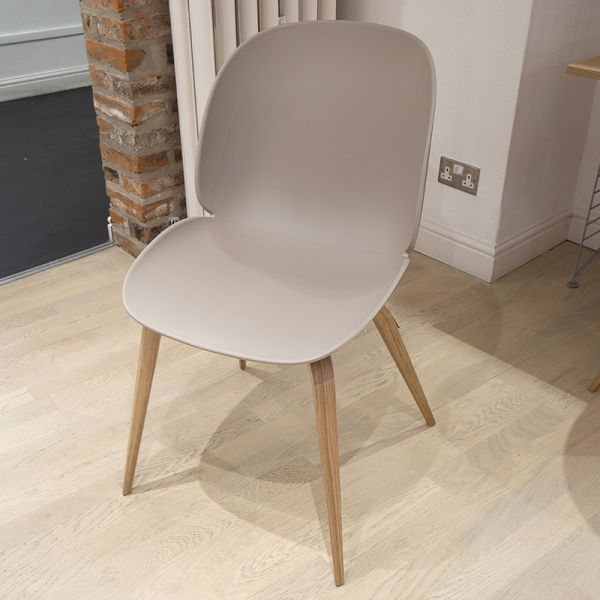 Gubi Beetle Dining Chair Oak Wooden Base Beige Shell Ex-Display was £310 now £200