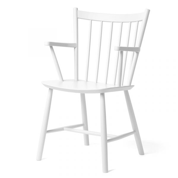 Hay J42 Chair White Water Based Lacquered Beech