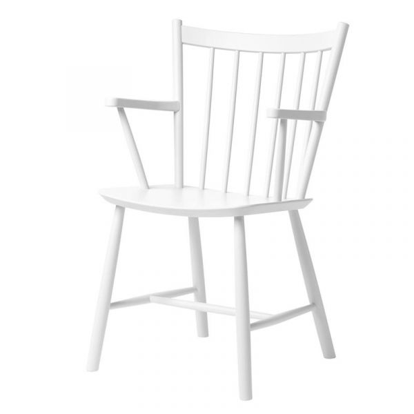 Hay J42 Chair White Water Based Lacquered Beech Ex-Display was £305 now £205