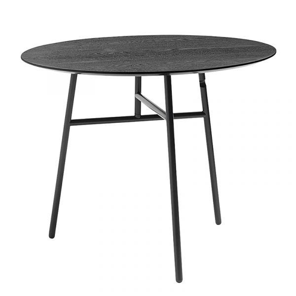 Hay Tilt Top Table Black Stained Ash Veneer