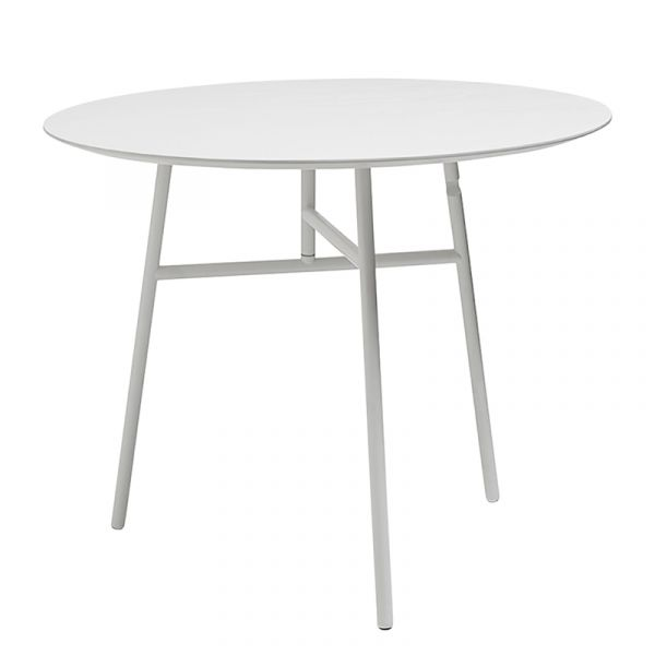 Hay Tilt Top Table White Stained Ash Veneer