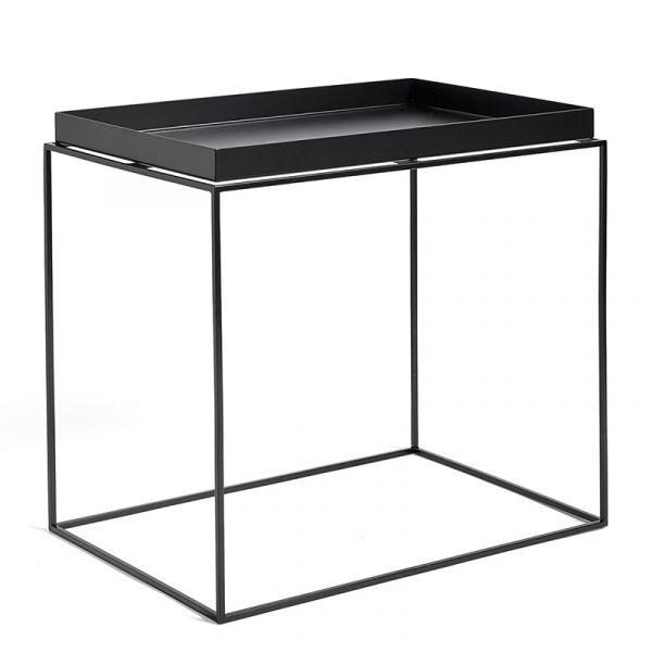 Hay Tray Table Rectangular W40xD60xH54cm Black