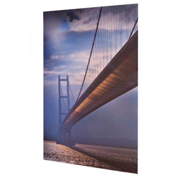 Humber Bridge 001 30x20in Aluminescent Print