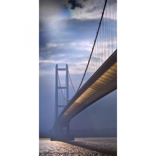 Humber Bridge 001 48x24in Canvas Print