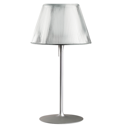 Flos Romeo Moon T Table Lamp T1 Reeded Clear Glass