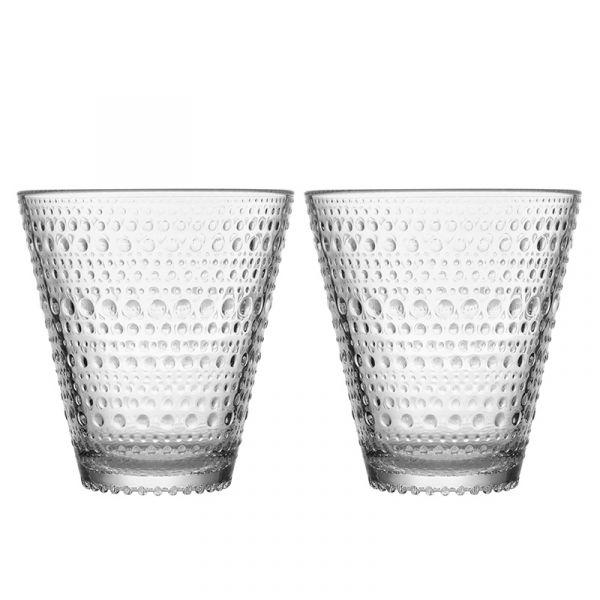 iittala Kastehelmi Glass Tumbler x2 Clear 30cl