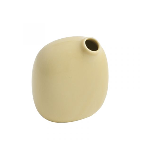 Kinto Sacco Porcelain Vase 02 Yellow