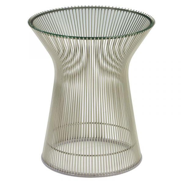 Knoll Warren Platner Side Table Nickel Clear Glass Quickship