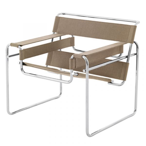 Knoll Wassily Lounge Chair Natural Canvas