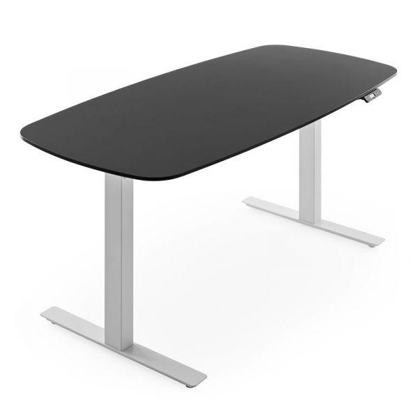 Knoll Grasshopper Height Adjustable Desk 160x80cm Rounded Edges