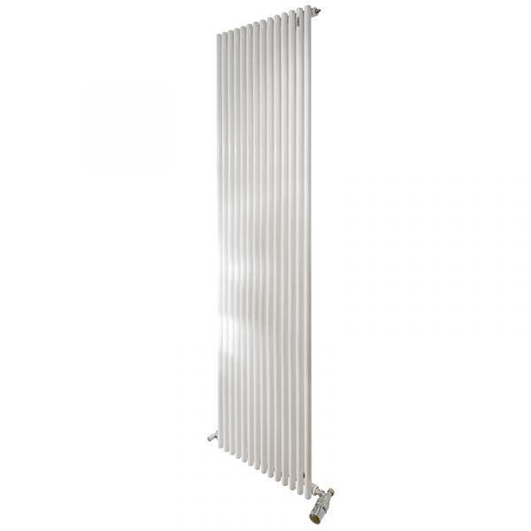 Basic 25 2m Vertical Single Radiator x14 Elements - 1233W by Tubes Radiatori (Valves Extra)