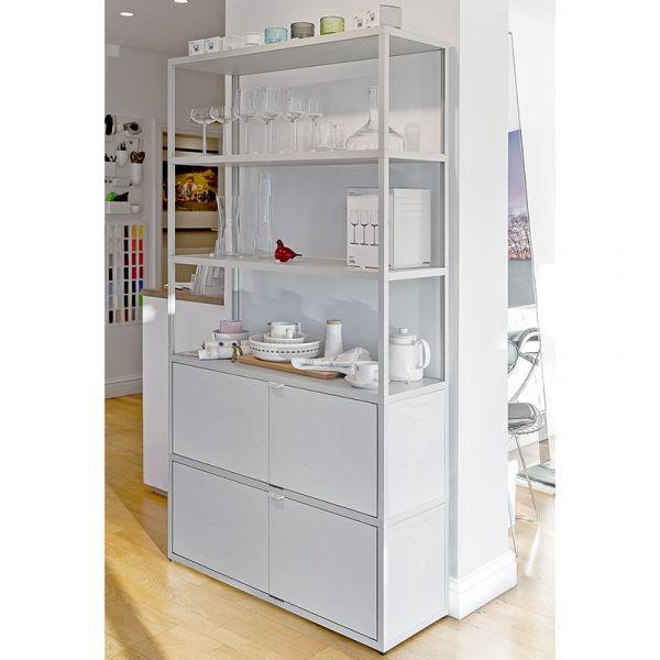 Hay New Order Vertical 6 Shelf Unit with x2 Doors W100xD34x H180cm