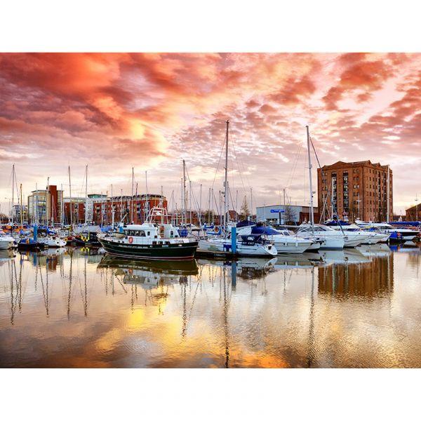 Hull Marina 005 40x30 Canvas Print