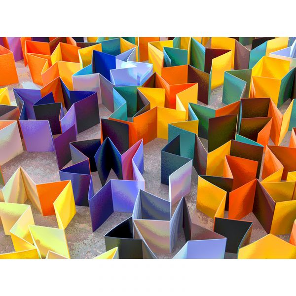 Limited Edition Paper City 003 40x30in Canvas Print