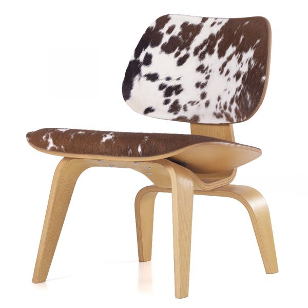 Vitra Eames LCW Calf's Skin Plywood Group Lounge Chair