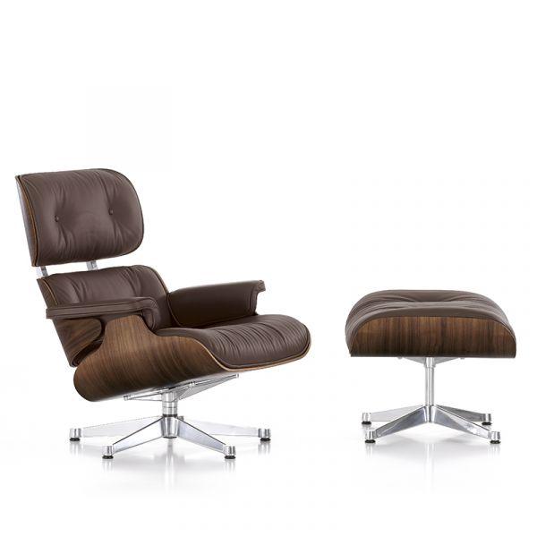 Vitra Eames Lounge Chair & Ottoman Black Pigmented Walnut