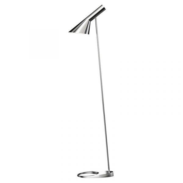 Louis Poulsen AJ Floor Lamp Stainless Steel Polished