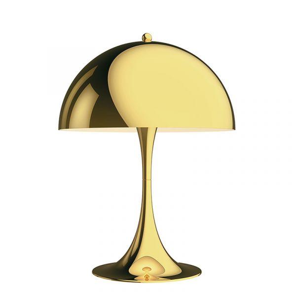 Louis Poulsen Panthella 320 Table Lamp Brass Metallised