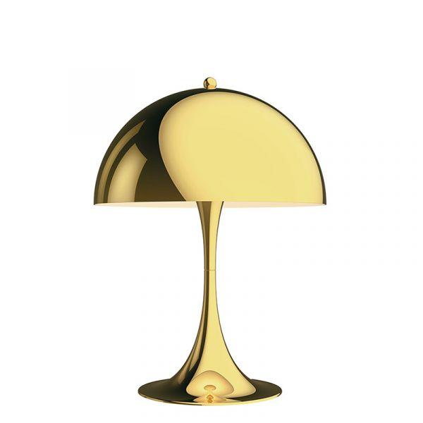 Louis Poulsen Panthella Mini Table Lamp Brass Metallised