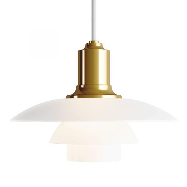 Louis Poulsen PH 2/1 Pendant Light Brass Metallised