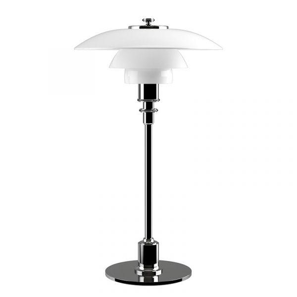 Louis Poulsen PH 2/1 Table Lamp Chrome Plated