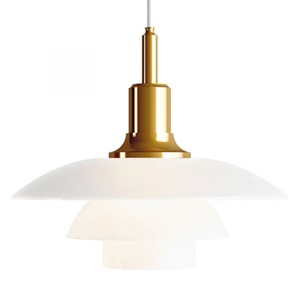 Louis Poulsen PH 3.5 - 3 Glass Pendant Light Brass Metallised