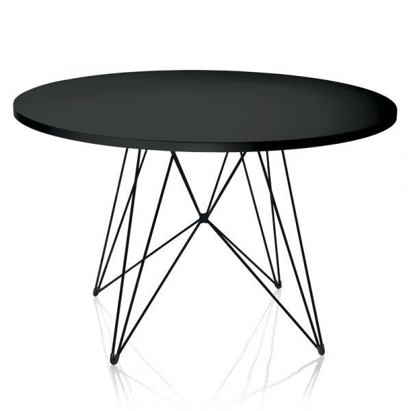 Magis XZ3 Dining Table Round 120cm Black 5140 Top Black Frame