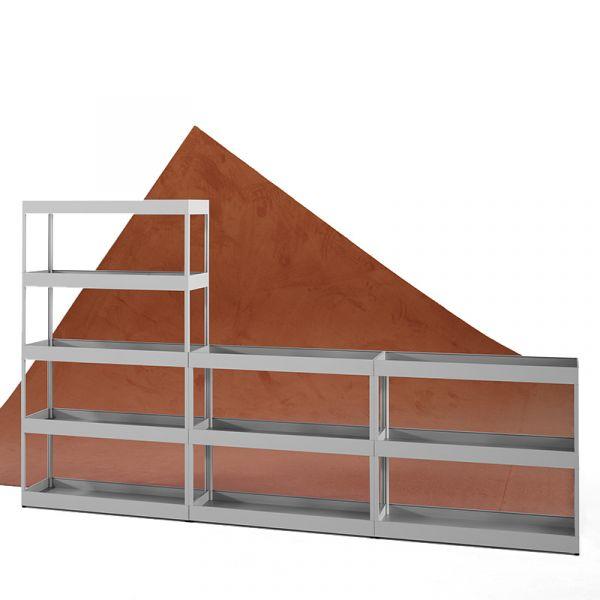 Hay New Order Irregular Open Shelf with Trays W300xD34xH173cm
