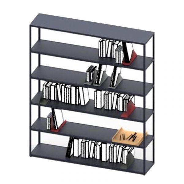 Hay New Order Vertical Open 6 Shelf Unit W150xD34xH180cm