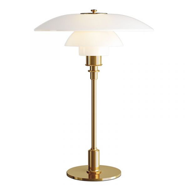 Louis Poulsen PH 3.5 - 2.5 Glass Table Lamp Brass Metallised