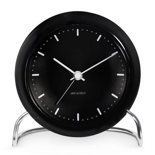 Rosendahl Arne Jacobsen City Hall Table Alarm Clock 11cm Black