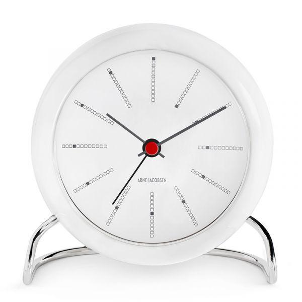 Rosendahl Arne Jacobsen Bankers Table Alarm Clock 11cm White