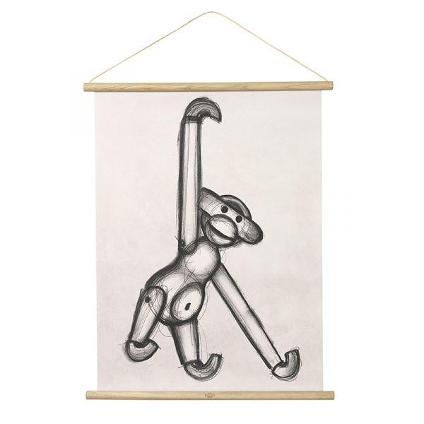 Rosendahl Kay Bojesen Monkey Photo Sketch 40x56cm DISCONTINUED
