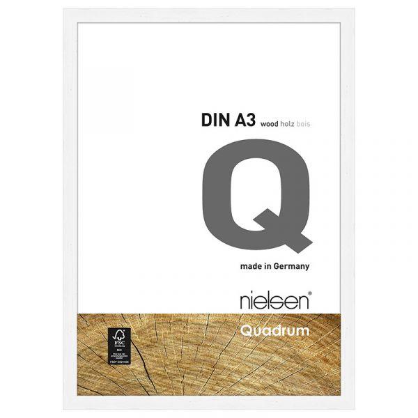 Nielsen Quadrum Wood Frame A3 Matt White
