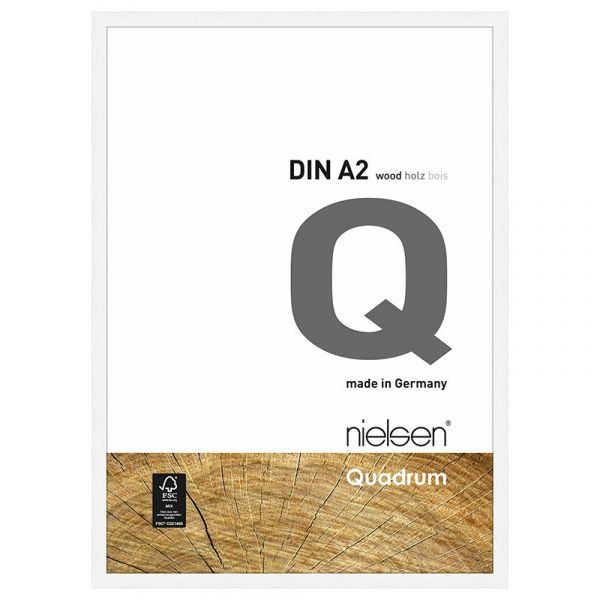 Nielsen Quadrum Wood Frame A2 Matt White
