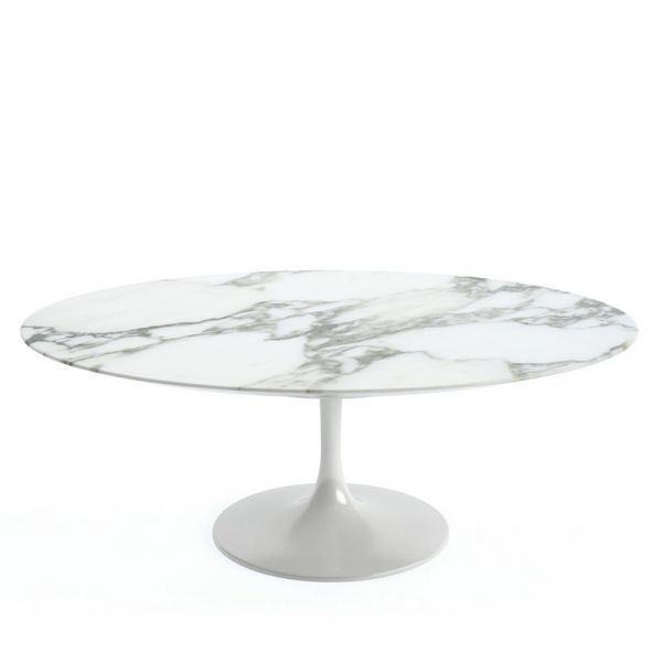 Knoll Saarinen Oval Coffee Table 107x70x38cm White Base