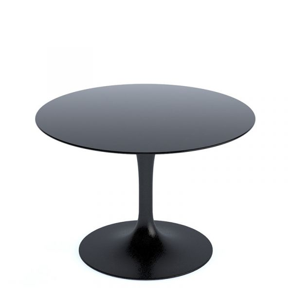 Knoll Saarinen Round Coffee Table 51cm Black Base