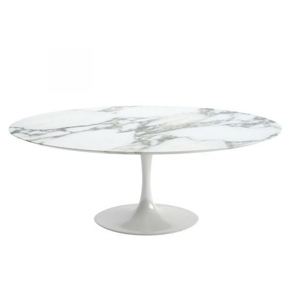 Knoll Saarinen Oval Dining Table 198x120cm White Base Quickship