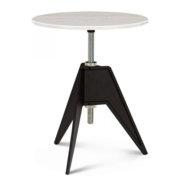 Tom Dixon Screw Cafe Table 60cm White Marble Top