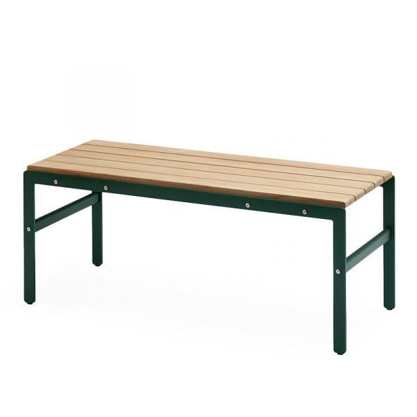 Skagerak Reform Outdoor Bench 110x40x43.5cm Teak & Anthracite Black Aluminum