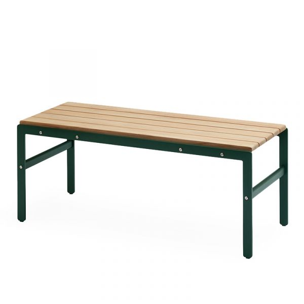 Skagerak Reform Outdoor Bench 110x40x43.5cm Teak & Hunter Green Aluminum
