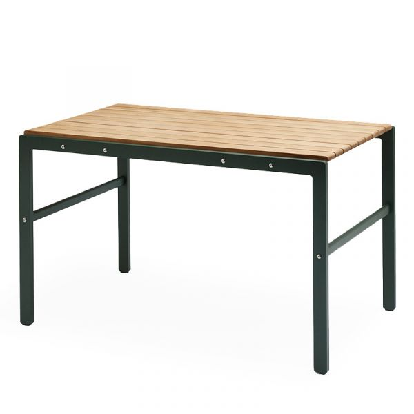 Skagerak Reform Outdoor Table 125x71x73cm Teak & Hunter Green Aluminum