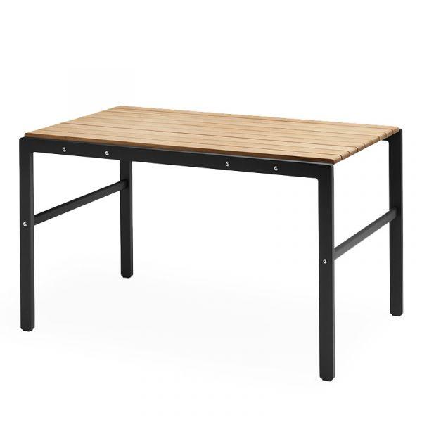 Skagerak Reform Outdoor Table 125x71x73cm Teak & Anthracite Black Aluminum