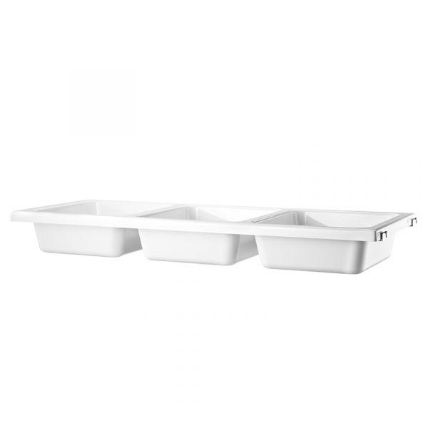 String System Bowl Shelf 78x30cm White