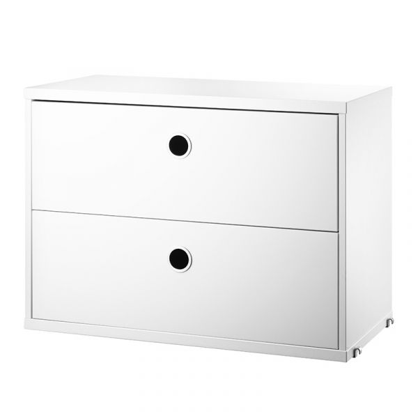 String System Chest Of Drawers 58x30cm White